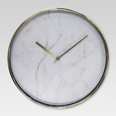 Wall Clock Marble with Brass 10  - Project 62™