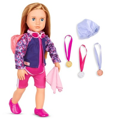 """Our Generation Posable 18"""" Swimmer Doll - Maya"""