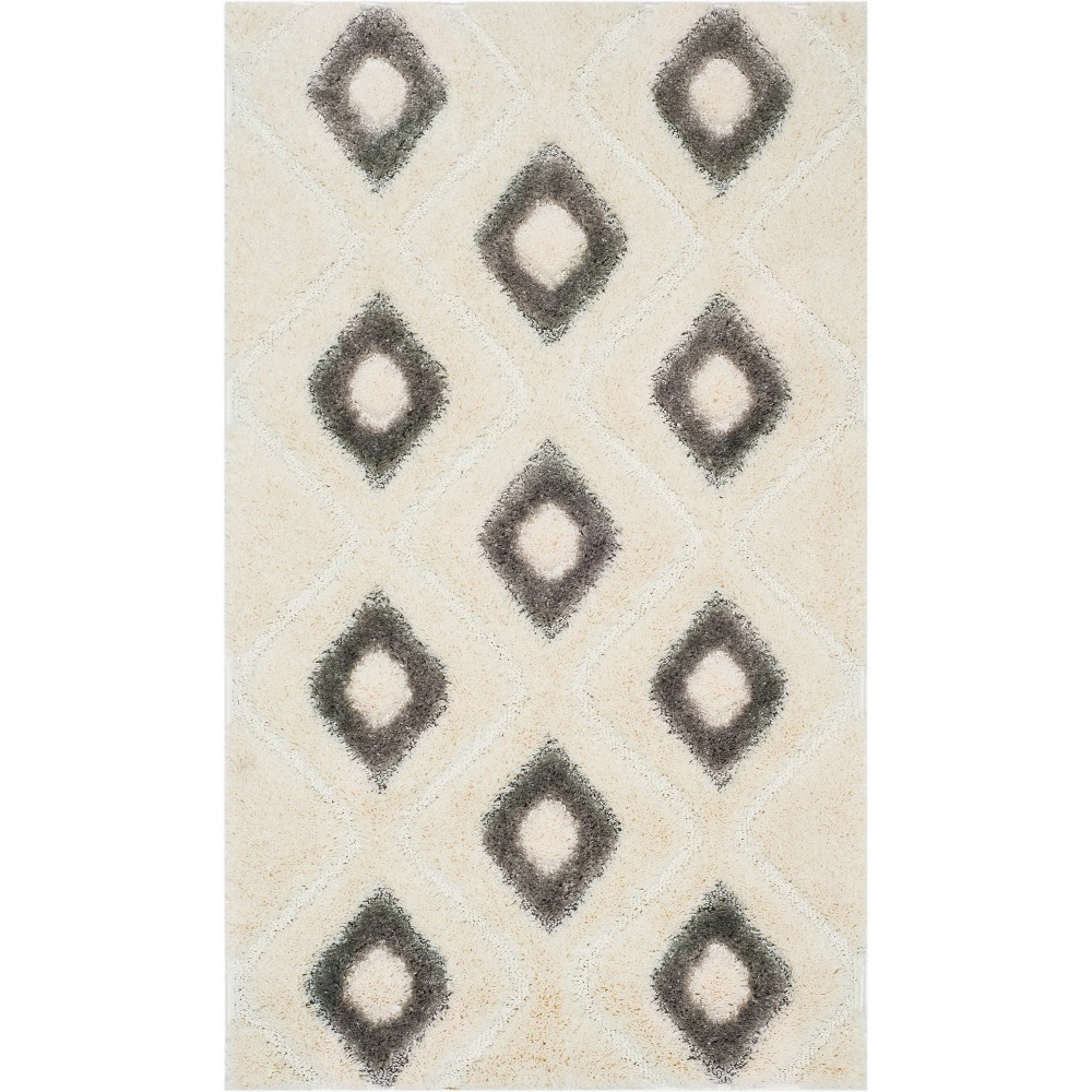 3X5 Geometric Loomed Accent Rug Cream/Gray - Safavieh Reviews