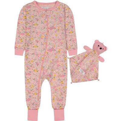 Sleep On It Infant Girls Zip-Front Floral Onesie