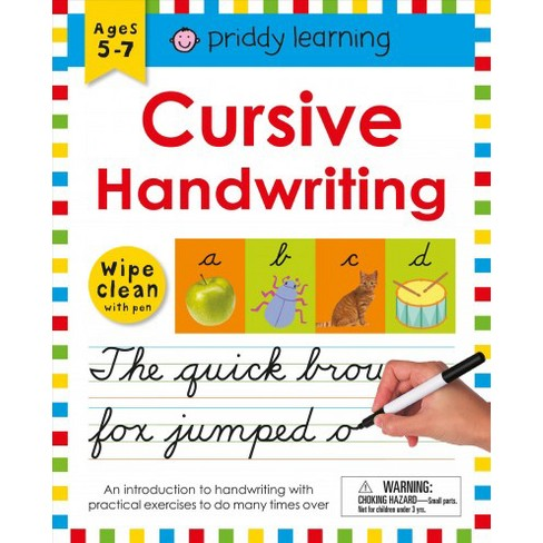 Wipe Clean Workbook : Cursive Handwriting (Paperback) (Roger Priddy ...