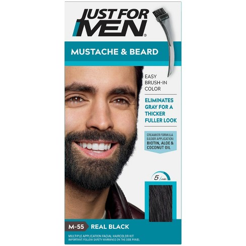 Just For Men Mustache & Beard Beard Coloring for Gray Hair with Brush Included - image 1 of 4