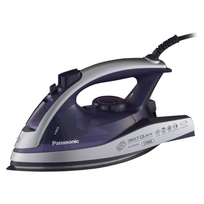 Panasonic 360º Quick™ Multi-Directional Steam/Dry Iron with Curved Alumite Soleplate