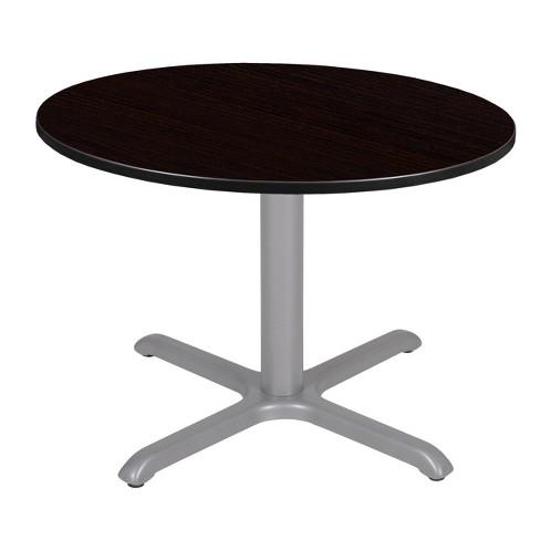 48 Via Round X Base Dining Table Espresso Gray Regency Target