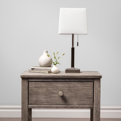Square Stick With Outlet Table Lamps Nickel   Threshold™ : Target