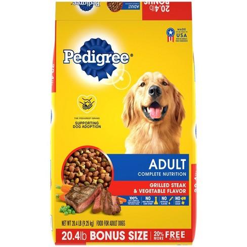 Pedigree Grilled Steak & Vegetable Flavor Adult Complete Nutrition Dry Dog Food - image 1 of 4