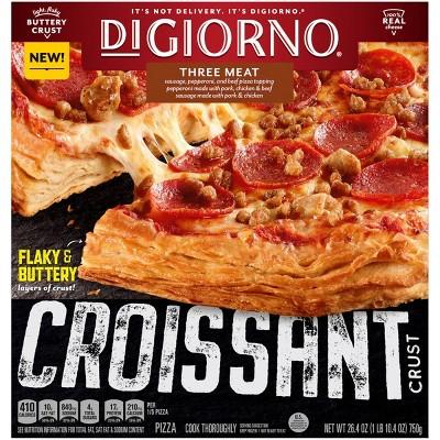 DiGiorno Croissant Crust Three Meat Frozen Pizza - 26.4oz