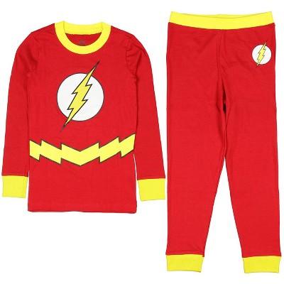 DC Comics Flash Little Boys 2 Piece Shirt & Pants Pajama Set