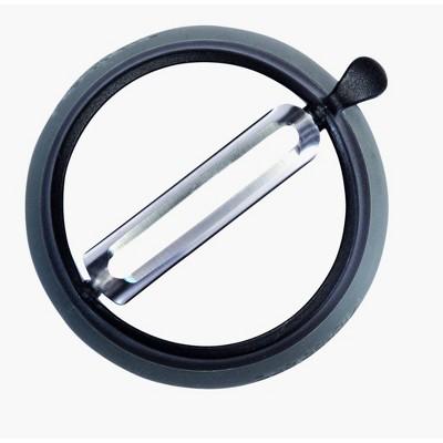 Microplane Grip n Strip Straight Peeler - Black