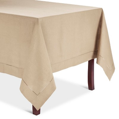 Taupe Hemstitched Tablecloth (72  Round)