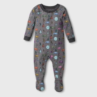 Baby Camper Van Union Suit - Gray 6-9M