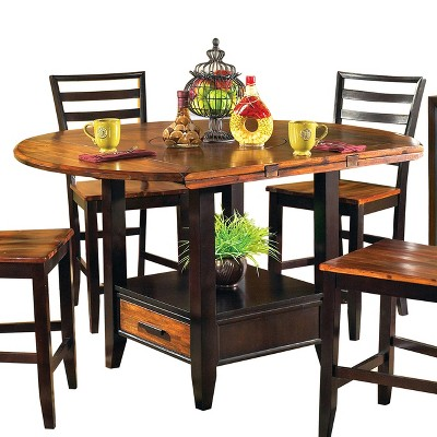 Blair Counter Height Extendable Dining Table Cherry - Steve Silver Co.