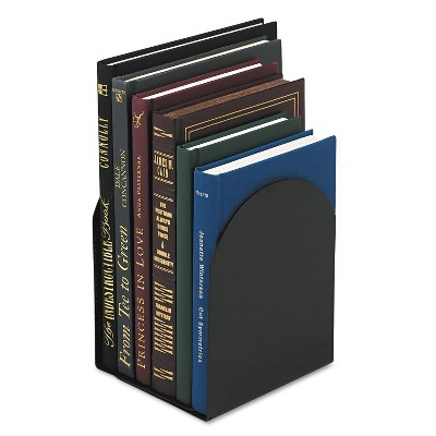 Universal Magnetic Bookends 6 x 5 x 7 Metal Black 54071