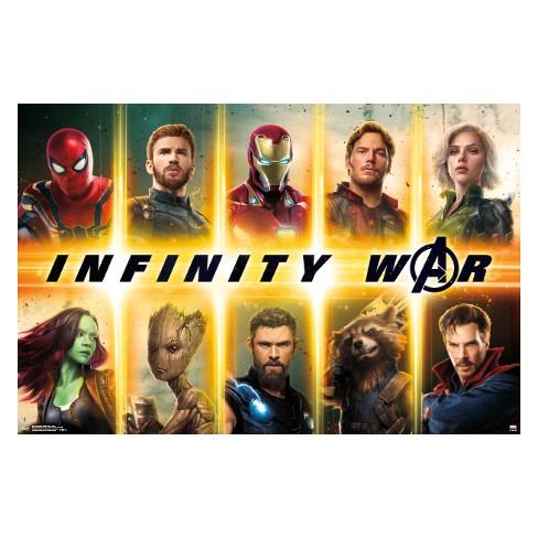 Avengers Infinity War Group Unframed Wall Poster Print 34