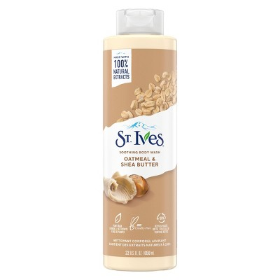 St. Ives Oatmeal & Shea Butter Plant-Based Natural Body Wash Soap - 22  fl oz