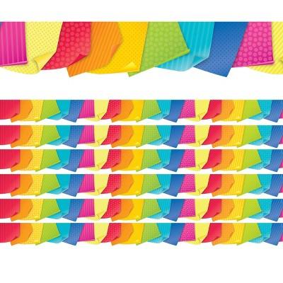 6pk 35ft Sticky Notes Classroom Borders Bold & Bright - Creative Teaching Press