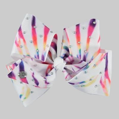 Girls' JoJo Siwa Tie-Dye Bow Hair Clip with Rhinestones