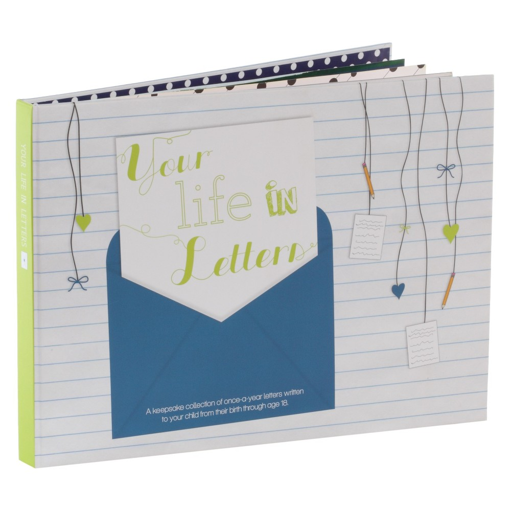 Image of Your Life in Letters Keepsake Book - Blue