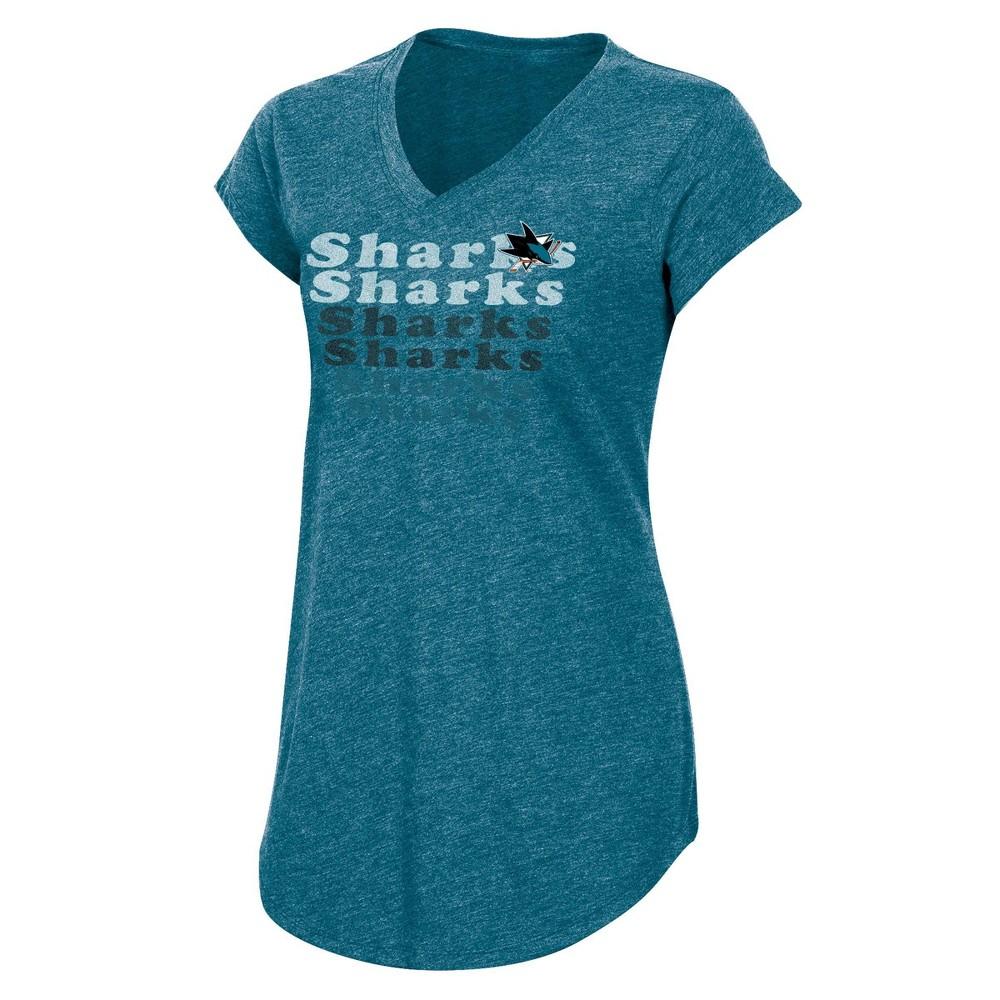 Nhl San Jose Sharks Women 39 S Team Pride V Neck T Shirt L