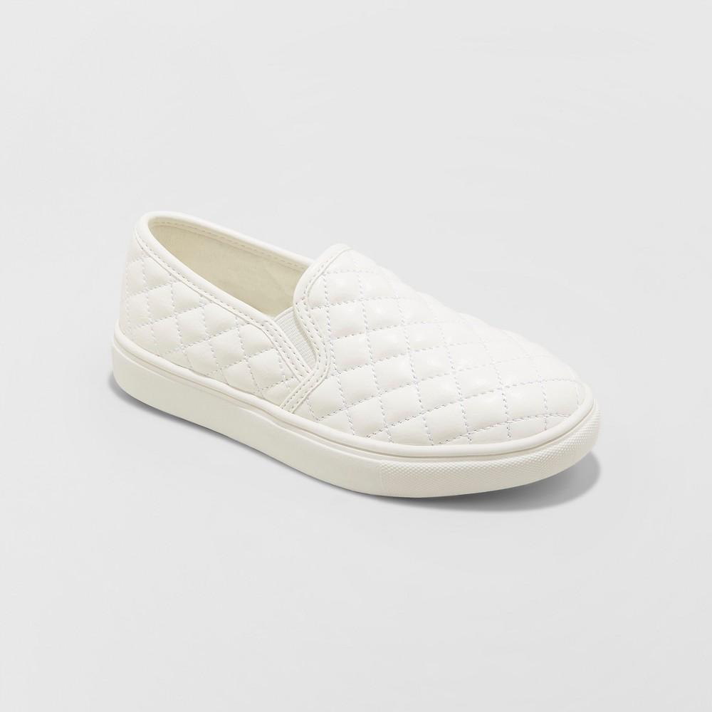 Girls' Maha Sneakers - Cat & Jack White 5