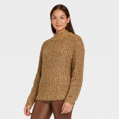 Women's Mock Turtleneck Pullover Sweater - A New Day™
