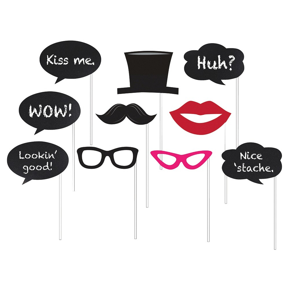 Image of 10ct Photo Booth Props, Chalkboard