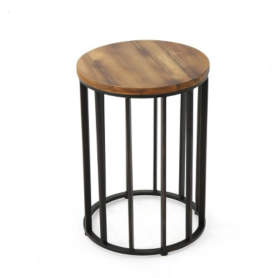 Canary 15  Acacia Side Table - Antique - Christopher Knight Home