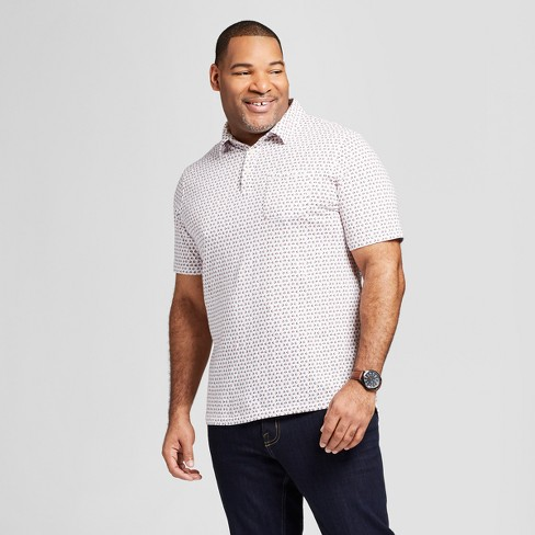 f79043fa Men's Big & Tall Standard Fit Short Sleeve Polo Shirt - Goodfellow & Co™  White