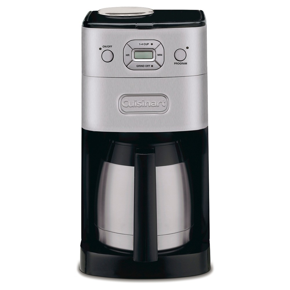 Cuisinart Grind & Brew 10 Cup Automatic Coffee Maker – Brushed Chrome Dgb-650BC, Black/Grey 21398012