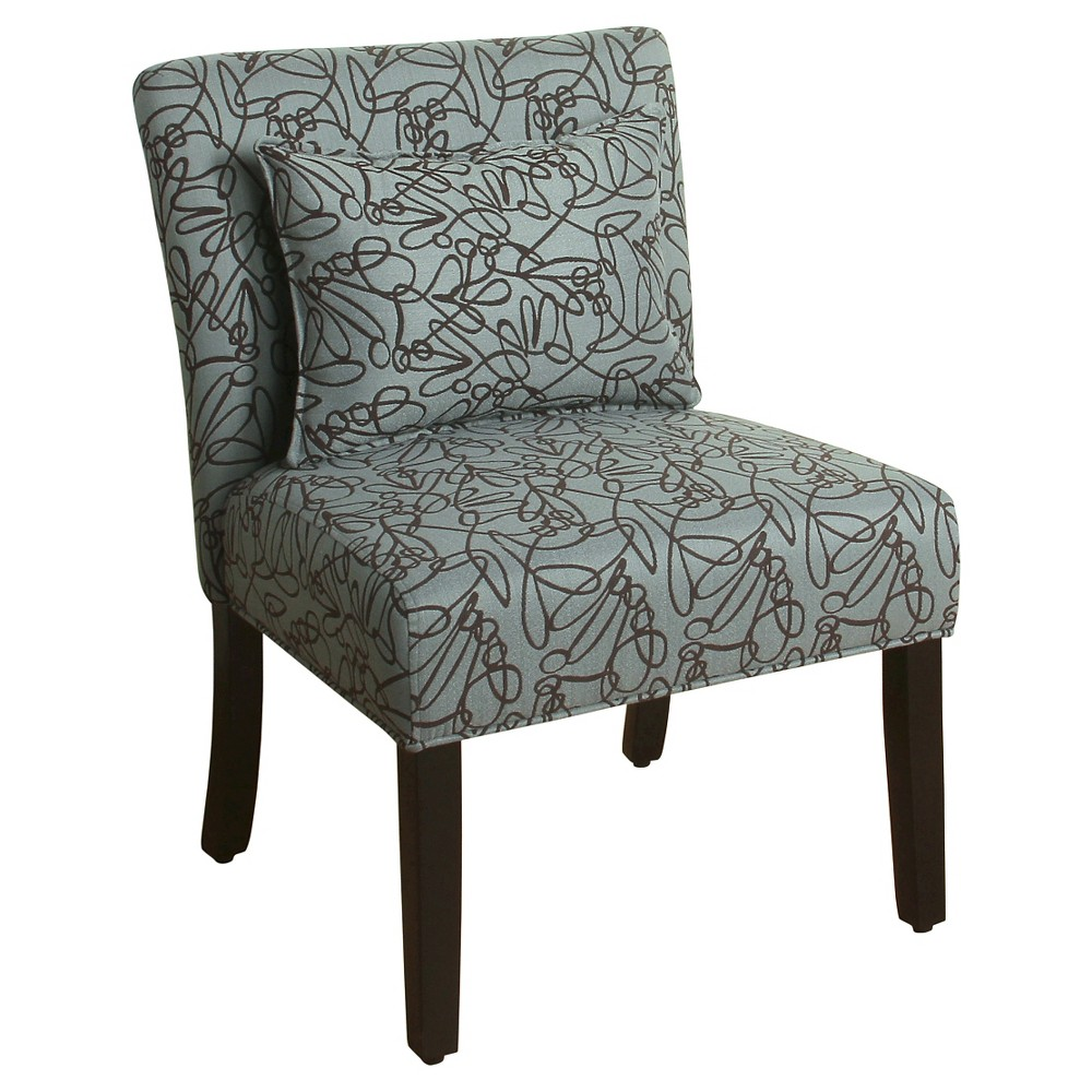 Parker Accent Chair with Pillow - Blue Graphite - HomePop was $149.99 now $112.49 (25.0% off)