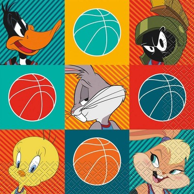 Space Jam 16ct Disposable Lunch Napkins
