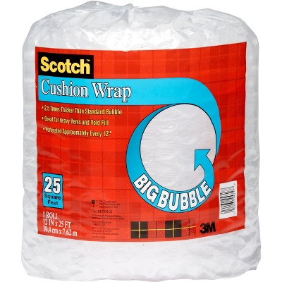 Scotch 1/2in Big Bubble Cushion Wrap 12in x 25ft