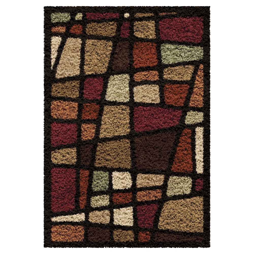Abstract Woven Accent Rug - (2'7