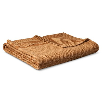 Full/Queen Sweater Knit Bed Blanket Toffee - Threshold™