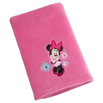 Disney Minnie Solid Coral Blanket