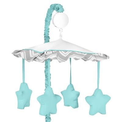 Sweet JoJo Designs Zig Zag Musical Crib Mobile - Blue Stars