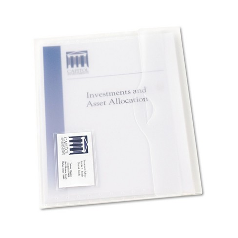 Avery® Translucent Poly Document Wallets, Letter, Poly, Clear, 12/Box - image 1 of 2