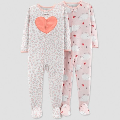 Baby Girls' Sheep Pajama Set - Just One You® made by carter's Pink 9M