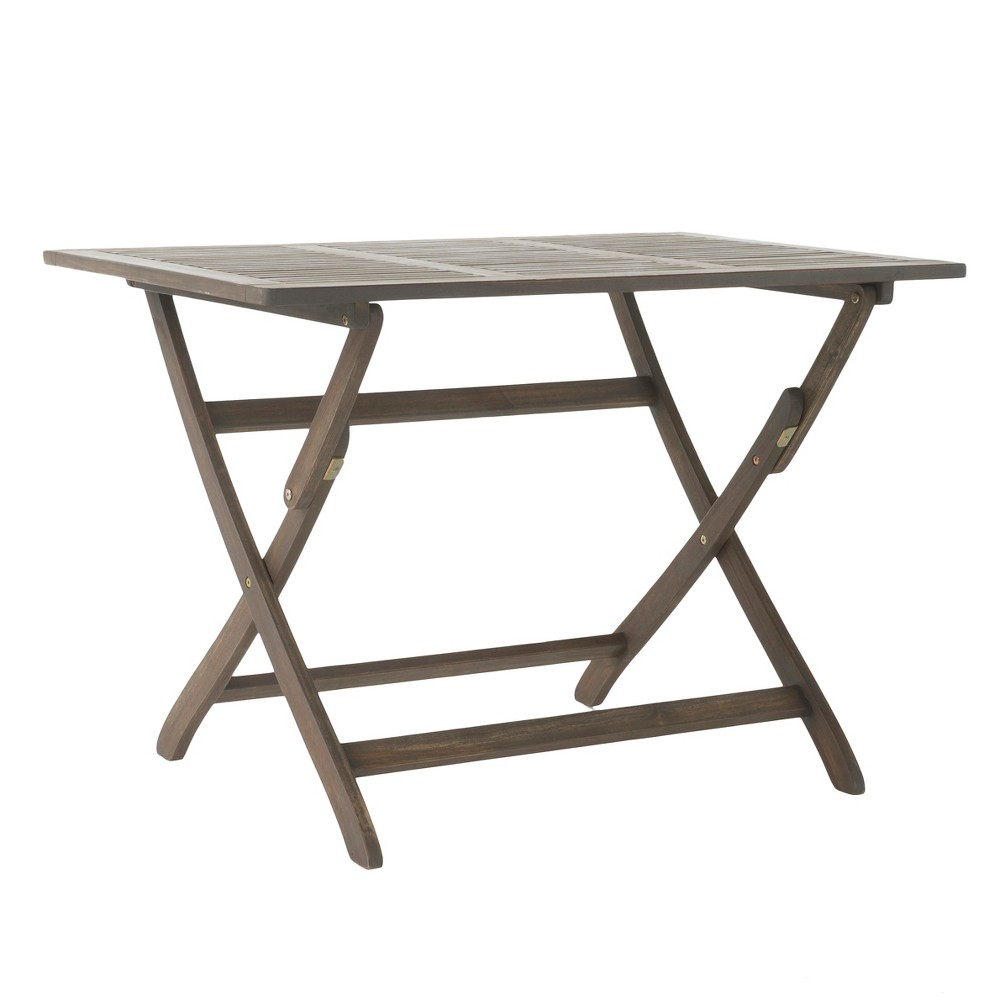 Positano Rectangle Acacia Wood Foldable Dining Table - Gray Finish - Christopher Knight Home