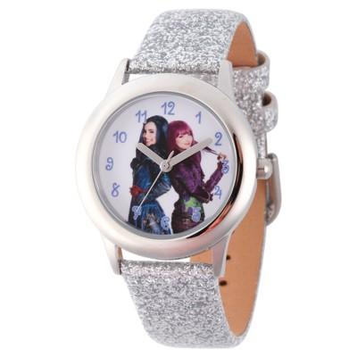 Girls' Disney Descendants 2 Evie and Mal Tween Stainless Steel Watch - Silver