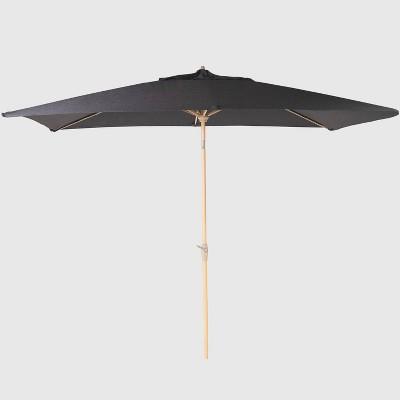 10' x 6' Rectangular Patio Umbrella - Light Wood Pole - Threshold™