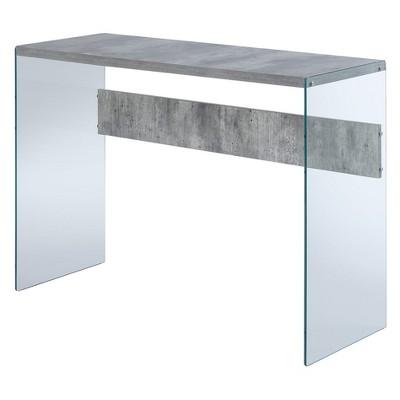 Johar Furniture Soho Faux Console Table Birch White