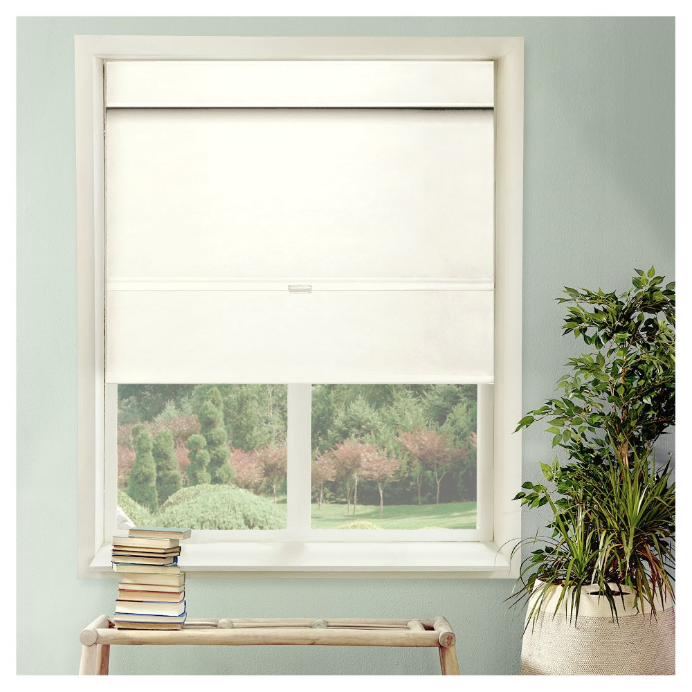 Chicology Cordless Magnetic Roman Shades Mountain Snow (27