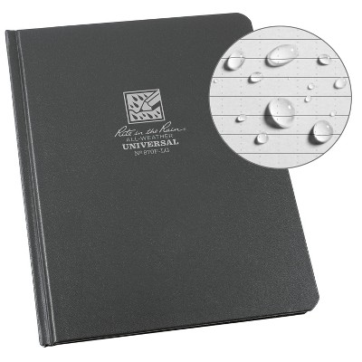 """Casebound Notebook Special Ruled 6.75"""" x 8.75"""" Gray - Rite in the Rain"""