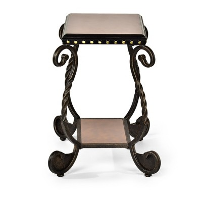 Rosemont Chairside End Table Wood and Metal - Steve Silver