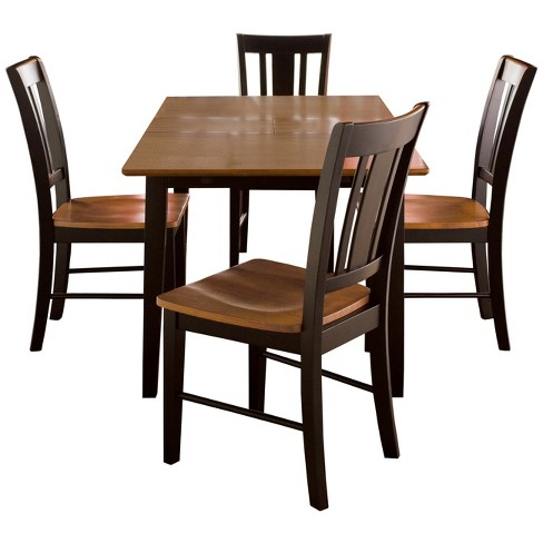 32 X 48 Set Of 5 Dining Table With 4 San Remo Chairs Black Red