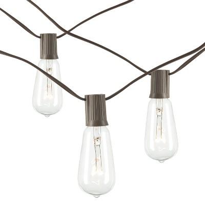 Gerson Set of 2 20-Foot Long Electric Patio Light Strings with 20 ST38 Bulbs (40 Bulbs Total)