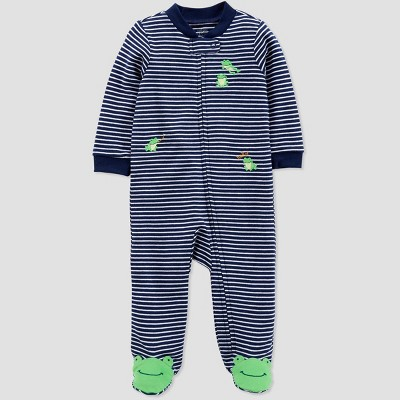 Baby Boys' Striped Frogs Sleep 'N Play - Just One You® made by carter's Navy Blue 6M