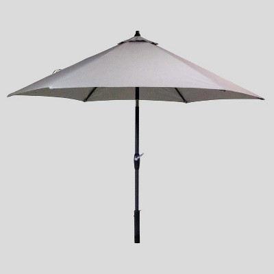 9u0027 Round Patio Umbrella Sunbrella Spectrum   Black Pole   Smith U0026 Hawken™