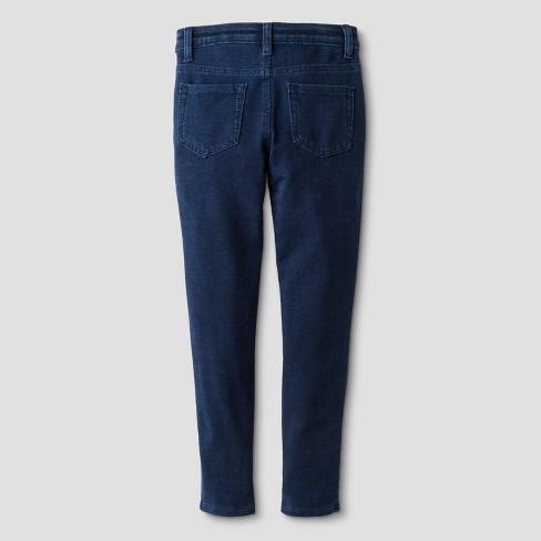 044ce814742634 Girls' Knit Leggings Pants - Cat & Jack™ Dark Blue : Target